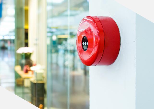 przycisk alarmu przeciwpożarowego